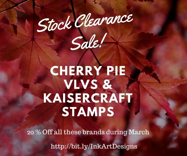Clearance Sale, with 20% off selected brands at my Etsy shop for all of March. https://www.etsy.com/shop/inkartdesigns