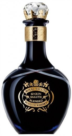 A limited edition ultra-premium blend from Pernod Ricard, topping their Royal Salute range and named for the 62 gun salute fired for royal anniversaries. The whiskies used to make the blend are aged for at least 40 years and it is packaged in an elegant blue decanter, painted and inlaid with 24-carat gold, and comes in a blue case complete with a book describing the creation of the blend. € 2,916.12