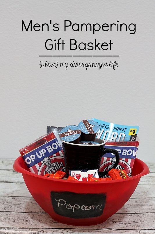 231 best gift baskets images on pinterest gift ideas original mens pampering gift basket negle Gallery