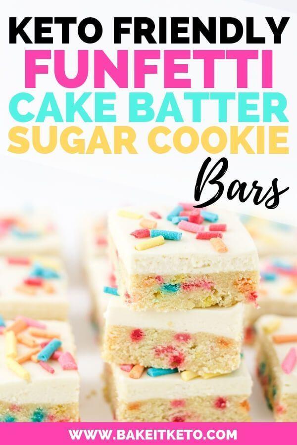 Keto Funfetti Cake Batter Sugar Cookie Bars Recipe Keto