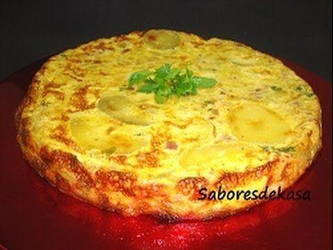 Tortilla al horno con jamón y queso