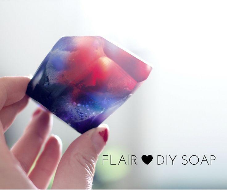 krystal, sæber, DIY, lav dine egne sæber, hjemme spa, diamant, hvordan laver man sæbe, hjemmelavet sæbe