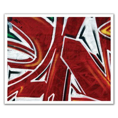 J.P. London Design, Inc. POSLT2183 Graffiti Red Spray Paint Funk uStrip Lite Removable Wall Decal