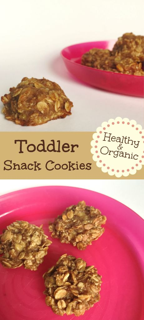 This is a quick, easy, and organic toddler snack cookie. With everyday ingredients that wont bring on the sugar crash of most store bought cookies.