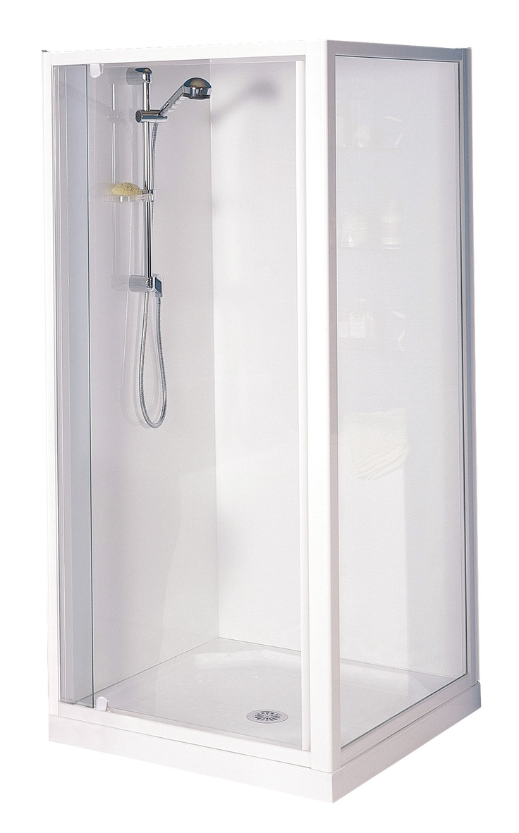 Felton designer 2 shower wall set bunnings warehouse - Clearlite Sierra Square Flat Wall Shower Enclosure Available At Pecks Plumbing Plus Manukau
