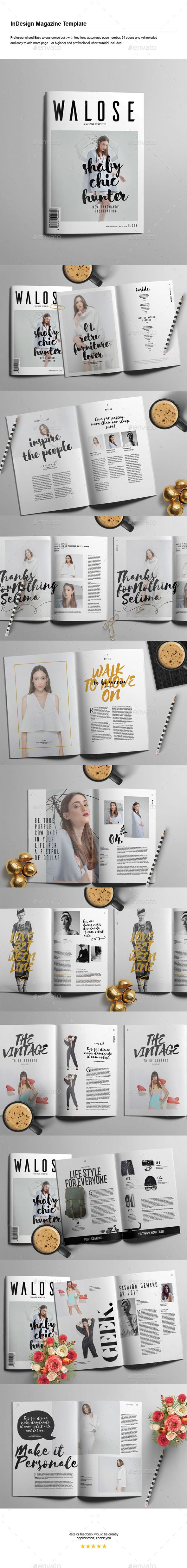 Indesign Magazine Template  #fresh #clean #classic • Click here to download ! http://graphicriver.net/item/indesign-magazine-template/15964882?ref=pxcr