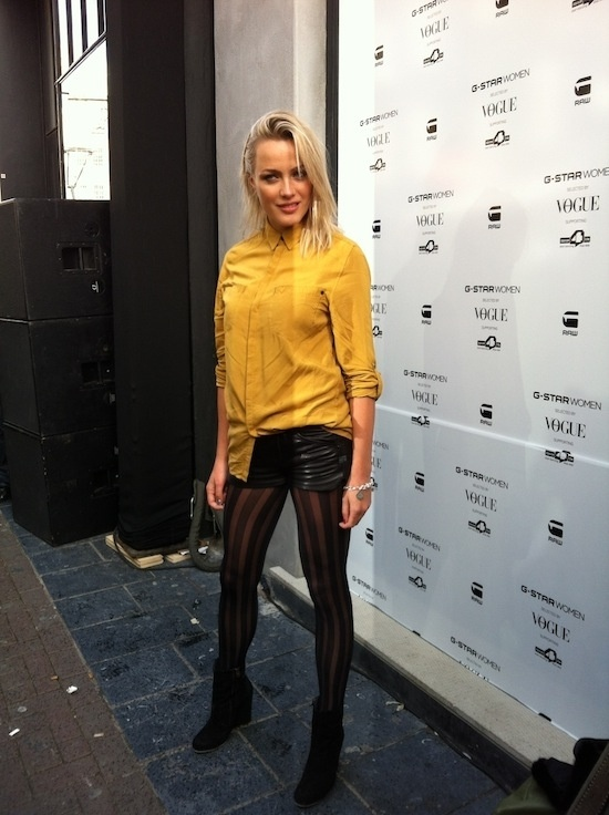 Tess Milne at the opening of the first G-Star Raw women's store