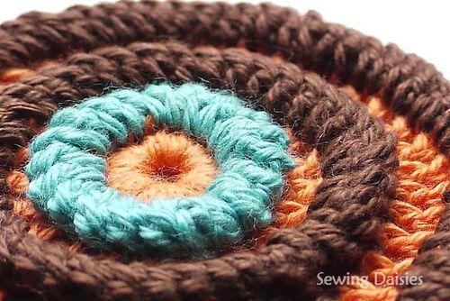 Folding Single Crochet Stitch  - Tutorial: Squares Motif, Crochet Stitches Tutorials, Diy Crafts, Single Crochet, Crochet Tutorials, Motif 23, Edie Eckman, Eckman Books, Crochet Stitch Tutorial