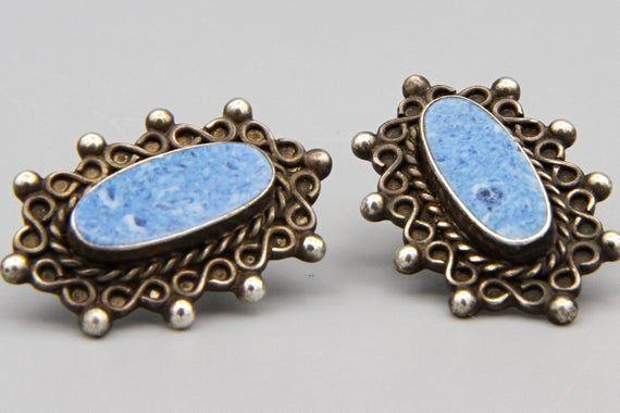 Vintage earrings screw back earrings sterling silver earrings stud earrings leaf earrings leaves antique earrings nature retro earrings