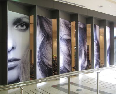 Brand frames work very well in retail areas attracting attention.