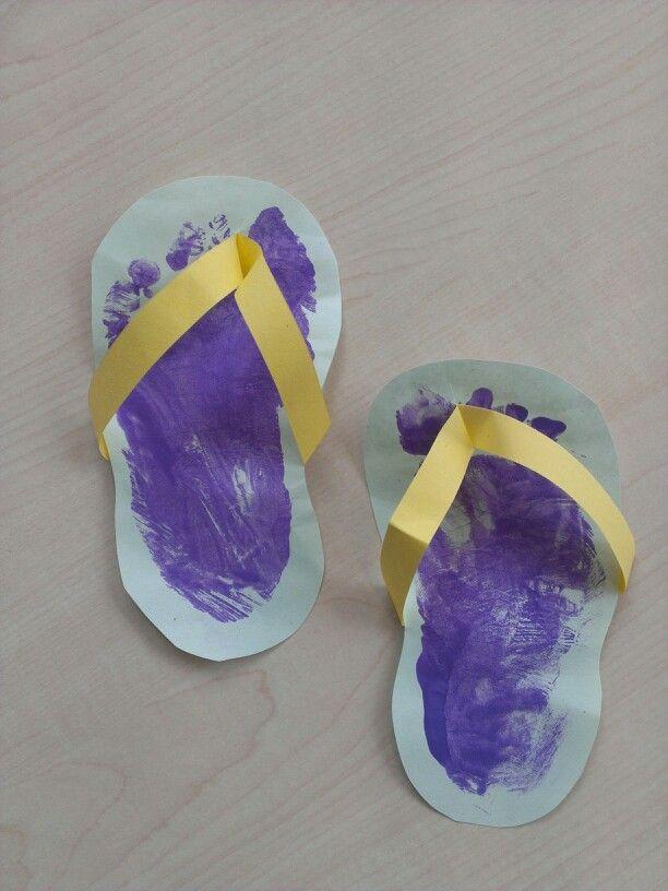 Baby voetjes slippers