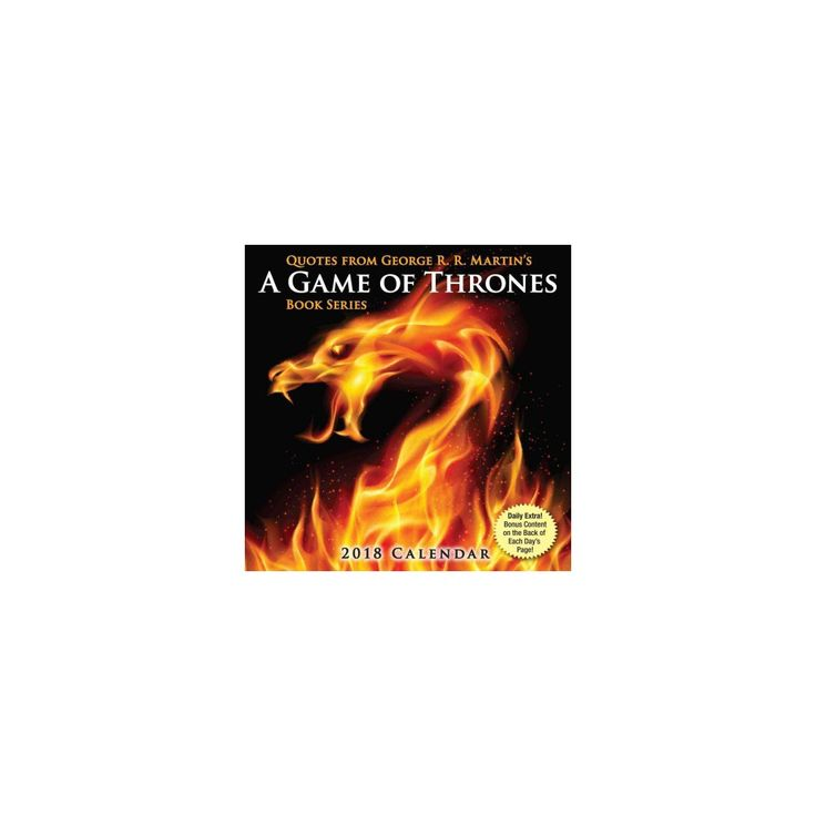 Quotes from George R.r. Martin's a Game of Thrones Book Series 2018 Calendar (Paperback) (George R. R.