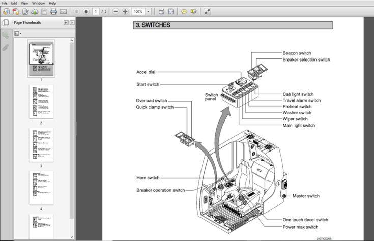 Hyundai R215C-7 Crawler Excavator Operator Manual