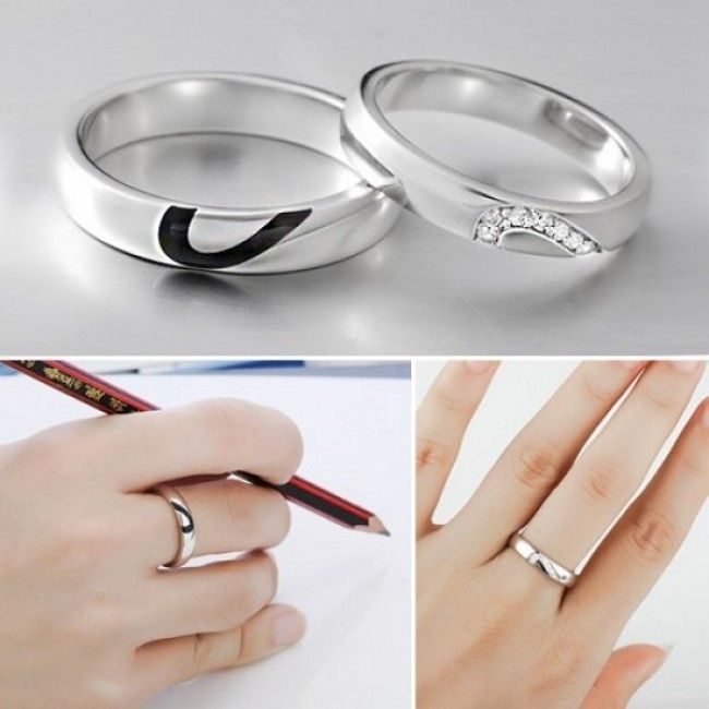 $69.95 http://www.evolees.com/sterling-silver-two-in-one-heart-rings-with-white-gold-plated.html Sterling Silver Two-in-one Heart Rings With White Gold Plated