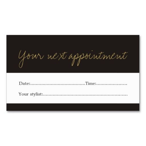 63 best Appointment Business Cards images on Pinterest - sample appointment card template