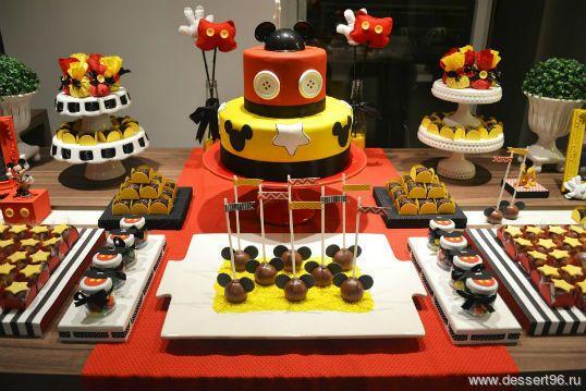 Микки Маус - Мальчики - сладкий стол, кэнди бар, кенди бар, candy bar, десертный стол, оформление сладкого стола, торт на заказ, макаруны на заказ, капкейки на заказ, кейкпопсы, пирожное на палочке, печенье на заказ