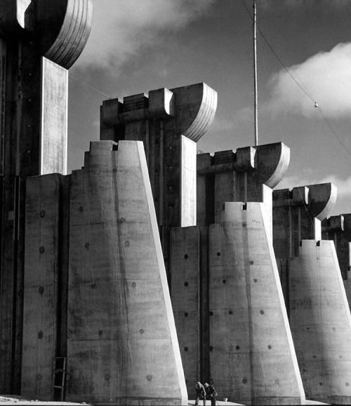 This image of the Fort Peck Dam, Montana, appeared on the cover of the first issue of LIFE - published 79 years ago this week, November 23, 1936. By Margaret Bourke White. Cool.