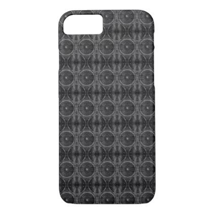 Black and white music speakers pattern iPhone 8/7 case - patterns pattern special unique design gift idea diy