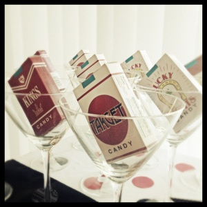 Candy + Martini Glass Favors