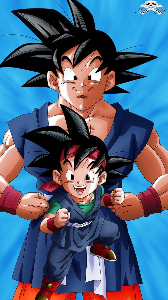 Dbgt Goku And Goku Jr By Niiii Link Anime Dragon Ball Super Dragon Ball Super Goku Dragon Ball Super Manga