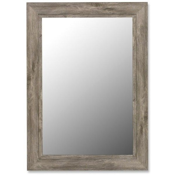 Coastal Weathered Grey Wall Mirror (380 CAD) ❤ liked on Polyvore featuring home, home decor, mirrors, grey mirror, gray wall mirror, grey wall mirror, gray home decor and grey home decor