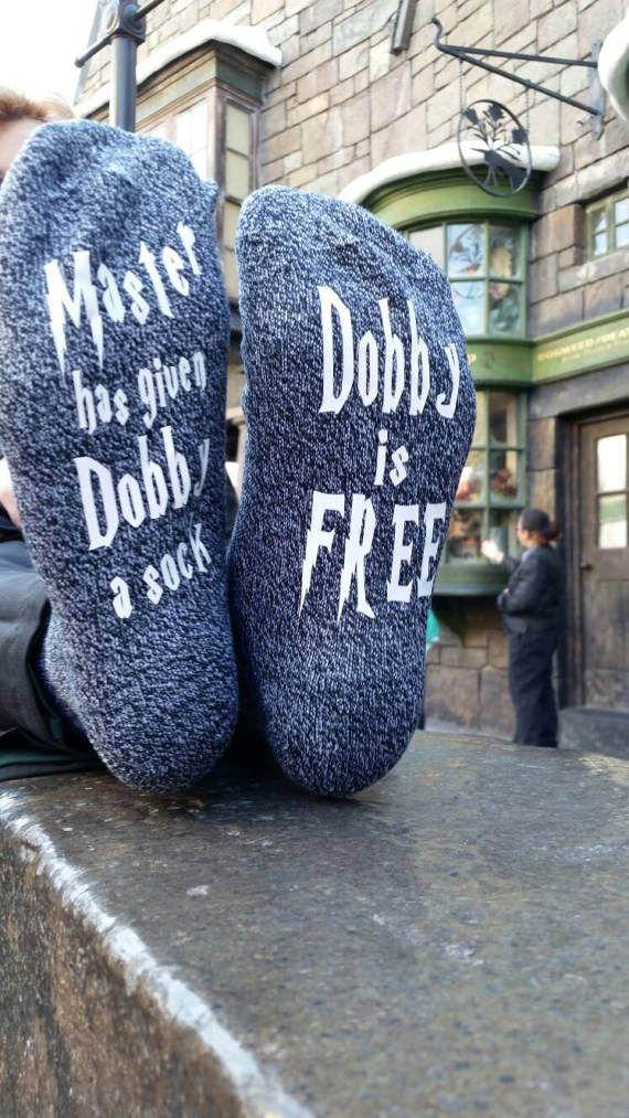 Dobby socks Novelty Socks Fandom Socks  Dobby is free HP