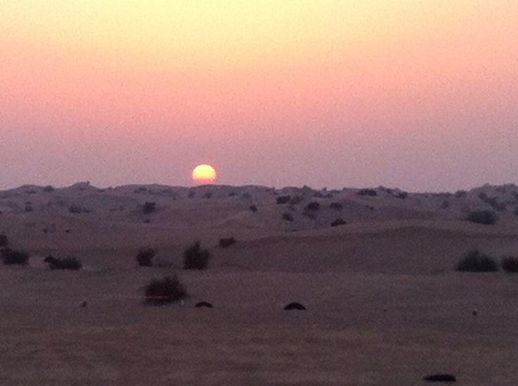 Solnedgång i öknen!