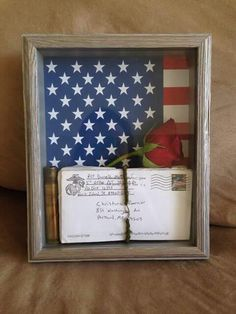Shadow box with basic training letters