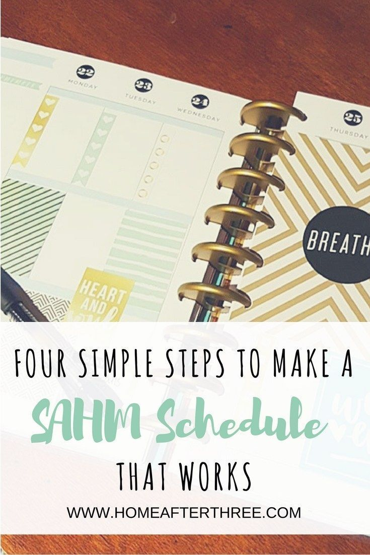 how to make a stay at home mom schedule that works in 4 simple steps