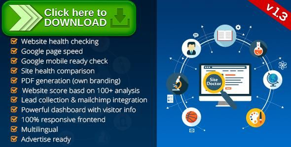 [ThemeForest]Free nulled download SiteDoctor - Website Health Checker from http://zippyfile.download/f.php?id=53716 Tags: ecommerce, email collector, google speed insight, lead collector, mobile friendly, seo, seo analysis, seo analyzer, seo recommendation, seo report, seo suggestion, seo tools, site comparison, site health check, website comparison, website health check