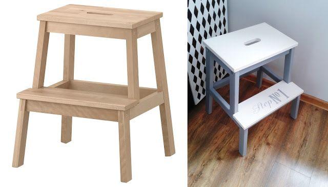 Ikea stool, ladder, stołek drabinka, shabby chic, vintage