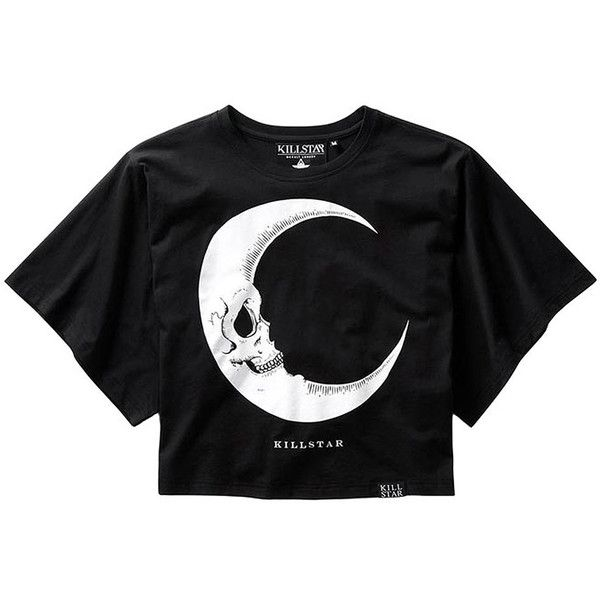 Killstar Dark Side Of The Moon Batwing Crop Top (Black) (165 BRL) ❤ liked on Polyvore featuring tops, black batwing top, batwing top, crop top, goth top and gothic tops