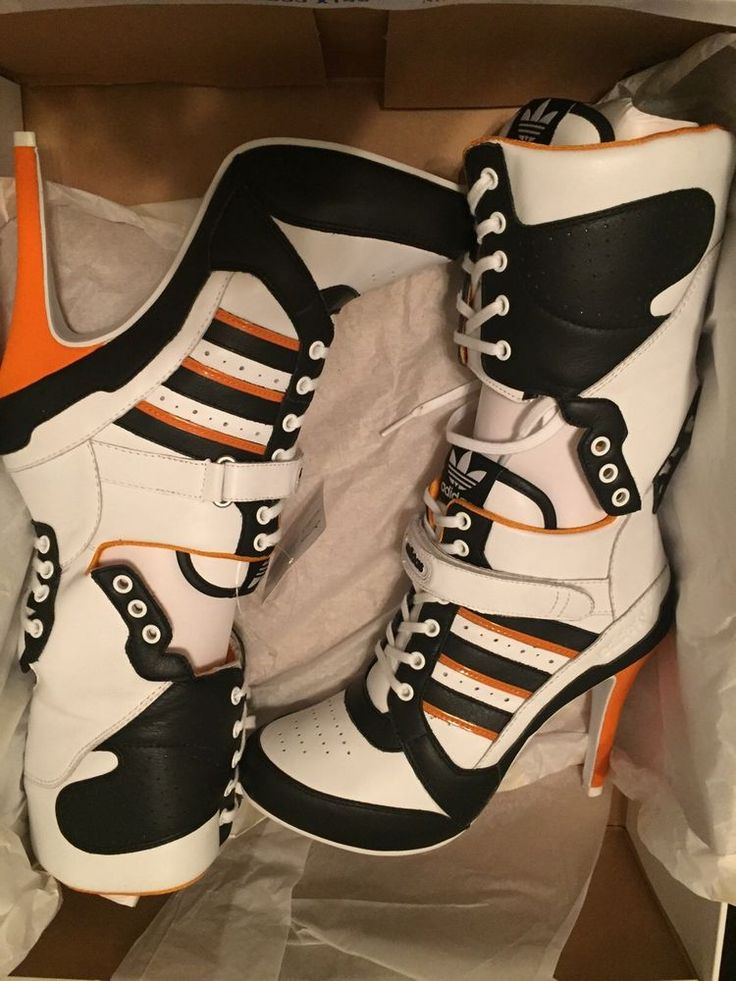Harley Quinn Stiletto Heels - Jeremy Scott X Adidas - DC Comics - 100%  Authentic