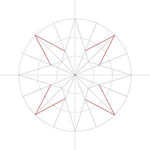how to draw a easy compass rose step by step
