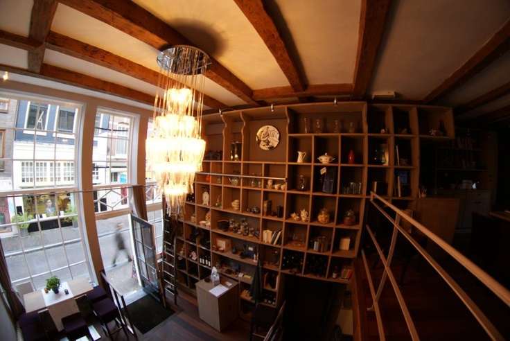 The bookcase...through a fish eye