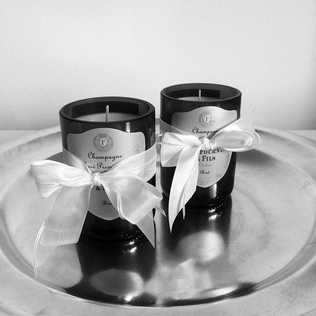 Cute champagne candles waiting to make someone happy!