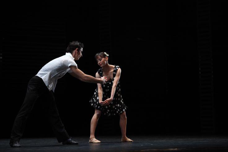 """Bogdan Cănilă şi Diana Tudor (scena Tango timid din / Shy Tango scene from """"Tango"""")"""