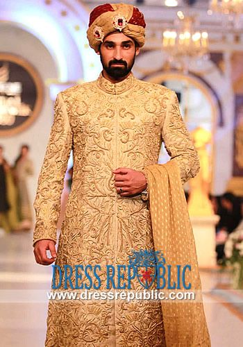 Arsalan Iqbal #Sherwani Showcased at Pantene #Bridal #Couture Week 2013 in Lahore. Arsalan Iqbal Sherwani Collection is now Available on Dressrepublic.com