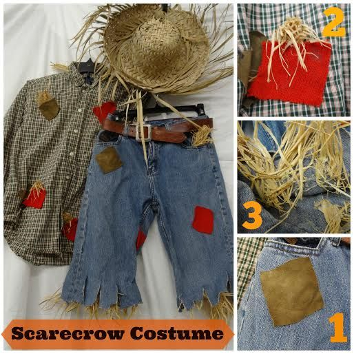 Halloween costumes home made adult scarecrow