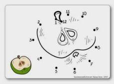 http://dessinemoiunehistoire.net/ Jeu des points à relier : les pommes