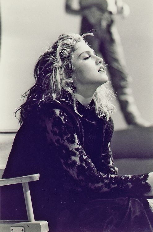 """Madonna on the set of """"Material Girl"""" video (1985) Thanks: Madennis #NAVYinspiration #Madonna #80s"""