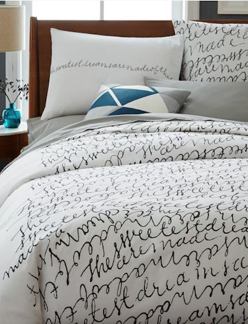 Bed Sheets With Writing On Them