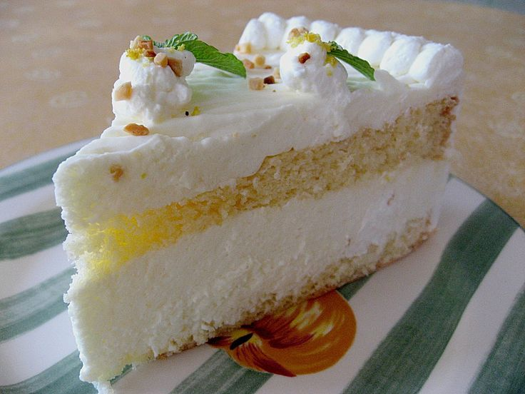 The German Lemon Torte or cake will be the highlight of your occasion. It's a great cake for summer. Refreshing and light - it's an authentic German recipe.