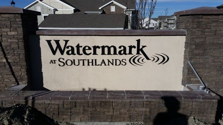This is one of the pair of monument signs installed by the Visual Edge Signs at the new apartments at Southlands, an area in East Aurora boasting a mall and many brand new residential areas.