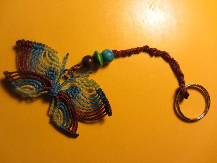 Butterfly keychain/ LLavero de mariposa