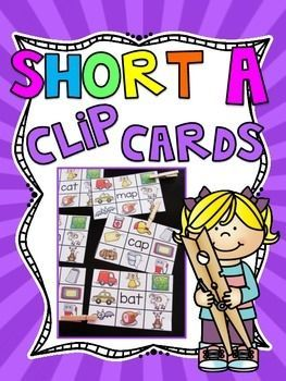 FREE Short A Clip Cards