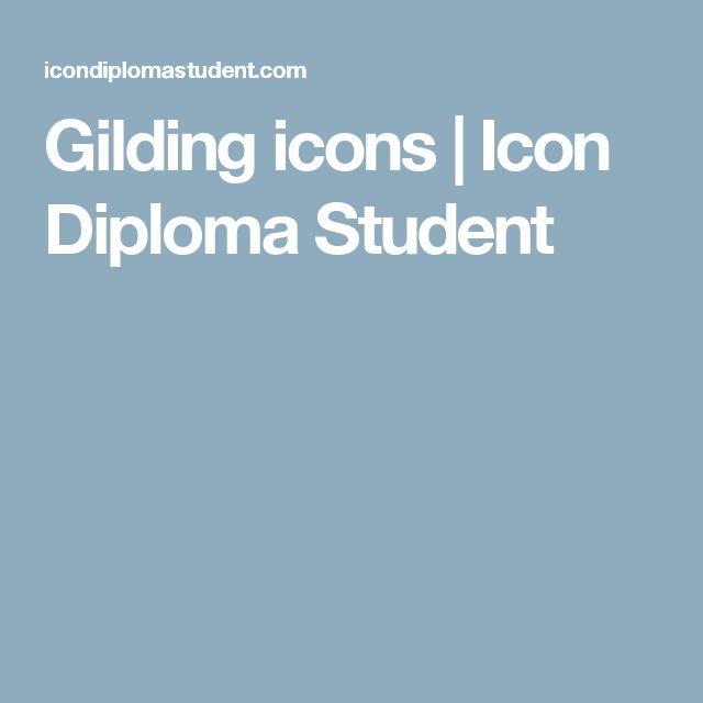 Gilding icons | Icon Diploma Student