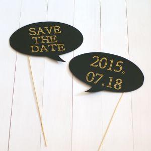 Save the date pálcadekoráció