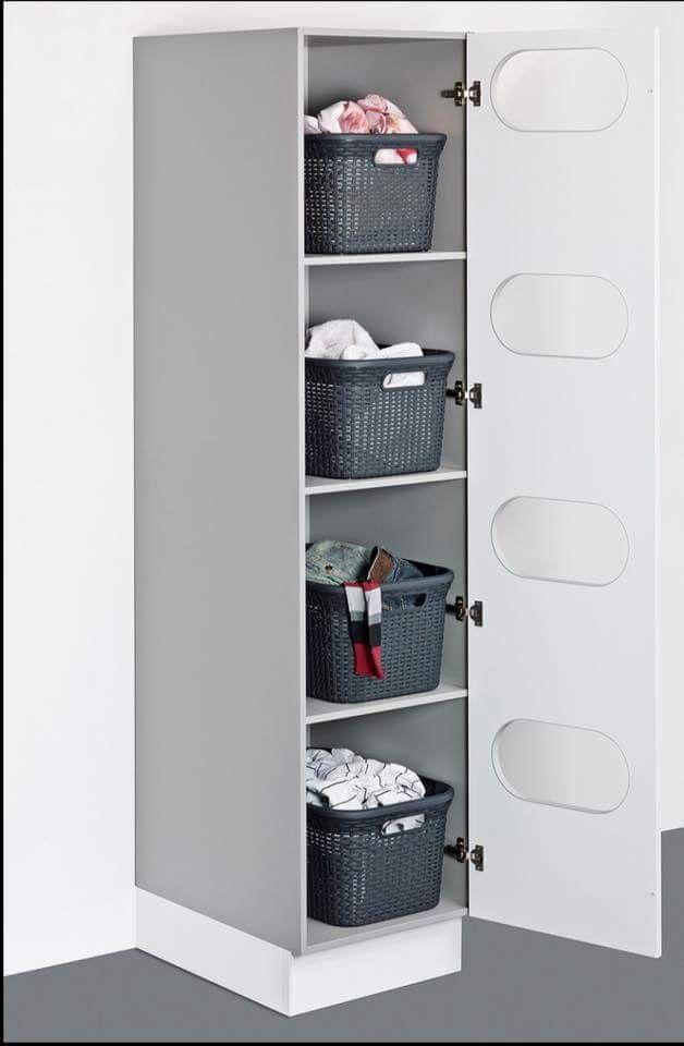 Pin Von Ann Chinery Auf Home Laundry Hauswirtschaftsraum Ideen Waschekorb Schrank Wasche Sortieren