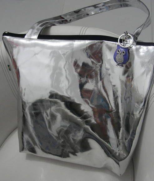 Bolsa De Tecido Com Ziper E Forro : Bolsa prata ou dourada com forro de tecido e ziper al?a